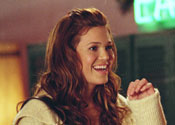 "Mandy Moore smiling in ""Because I Said So"""