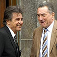 Robert De Niro and Al Pacino on the QT