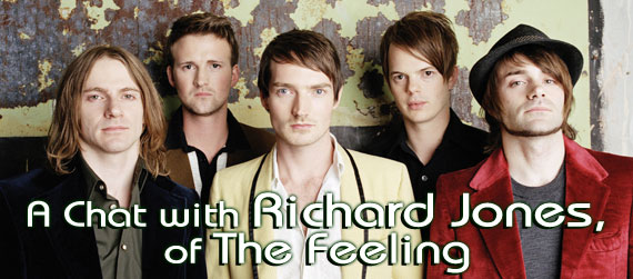 Richard Jones interview, The Feeling interview, Twelve Stops and Home interview