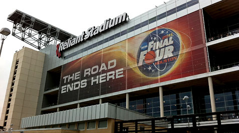 Reliant Stadium at the Final Four