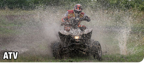 Man Riding Recreational ATV