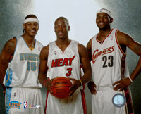 Carmelo Anthony, Dwyane Wade, LeBron James